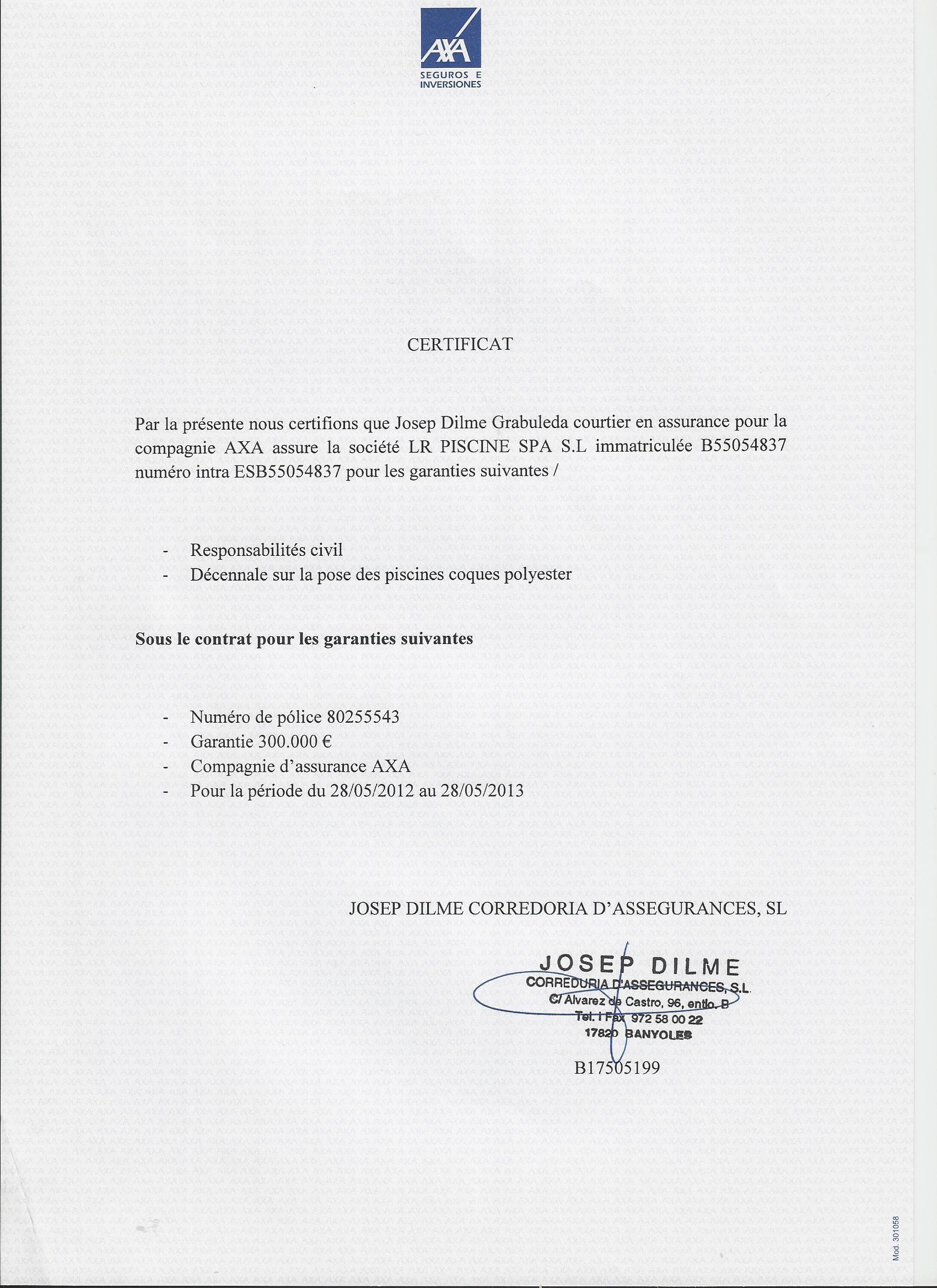 Doc Exemple Lettre Garantie Decennale