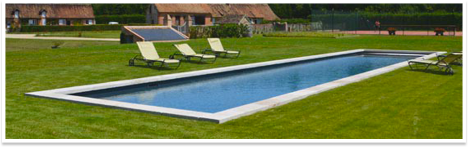 Longe riviera for Dimension piscine coque