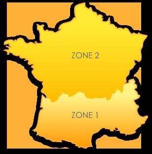 Zones de livraison